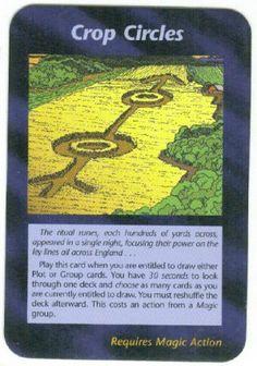 Illuminati Card Game only Published in 1995 - Crop circles Illuminati card