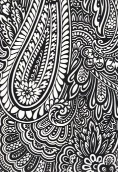 black and white paisley wallpaper - for the bathroom