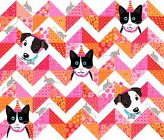While the Quilter is Away the Pets will Play fabric by bzbdesigner on Spoonflower - custom fabric. This one grows on you...