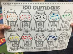 FREEBIE! 100 Gumballs- 100th day of Kindergarten