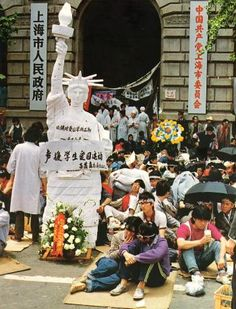 May 13, 1989: Hunger strikes by the students on Tiananmen Square in Beijing, China begin.