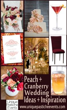 Peach + Cranberry Wedding Ideas