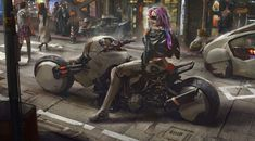 Welcome to the Awesome Cyberpunk Art of Concept Artist Eddie Mendoza What Is Cyberpunk, Cyberpunk Kunst, Cyberpunk 2020, Cyberpunk Girl, Cyberpunk Character, Mendoza, Matte Painting, Larp, Science Fiction