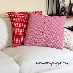 Men's Shirt Christmas pillow!  Cover existing throw pillows for the holidays. :-)