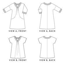 Digital Cappuccino Dress + Tunic Sewing Pattern | Shop | Oliver + S The updated Portfolio dress.