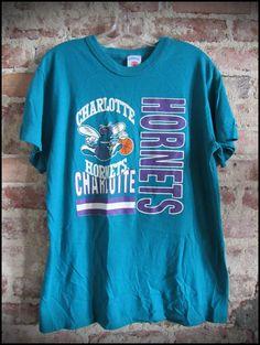Vintage Deadstock 80's NBA Charlotte Hornets Shirt by RackRaidersVintage, $16.00