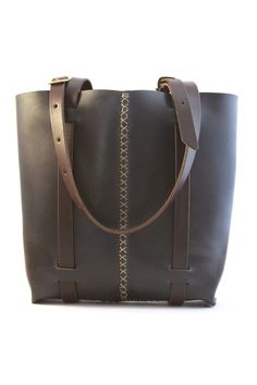 rugged leather tote bag. tote bag. leather door underthetreeithaca