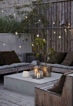 ▷ ideas for terrace design modern luxurious and cozy - Terrasse und Balkon - Small Backyard Gardens, Backyard Garden Design, Small Backyard Landscaping, Landscaping Ideas, Backyard Ideas, Patio Ideas, Terrace Ideas, Small Terrace, Backyard Pools