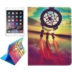 For+iPad+mini+4+Dreamcatcher+Pattern+Horizontal+Flip+Leather+Case+with+Holder,+Card+Slots+&+Wallet