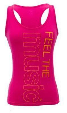 $18.95 awesome Zumba Fitness Feel The Music Racerback