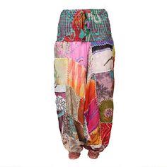 Recycled Silk Aladdin Harem Pants