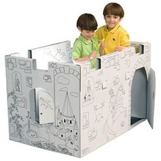 Cardboard Castle Playhouse from Easy Playhouse | Cool...Clever ...