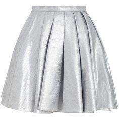 Ringmaster Chrome Skirt ($500) ❤ liked on Polyvore featuring skirts, bottoms, faldas, saias, summer skirts, silver metallic skirt, high rise skirts, high waisted full skirt and high waisted knee length skirt