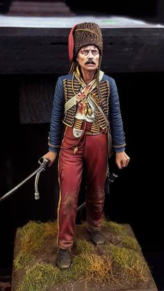 British hussar, Crimea, 1854 (Charge of the Light Brigade); scale figure by Maurice Corry British Army Uniform, Crimean War, Military Figures, Model Hobbies, Military Modelling, Miniature Figurines, Napoleonic Wars, Figure Model, Toy Soldiers