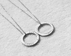 Hand engraved circle necklace,Personalized circle bar necklace,custom name ring necklace,hand stampe Circle Necklace, Ring Necklace, Initial Necklace, Pendant Necklace, Perfect Image, Perfect Photo, Roman Numerals Dates, Circle Bar, Vintage Cufflinks