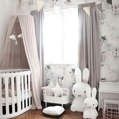 Baby girl nursery inspiration - a blush, Nordic-inspired room. Baby Bedroom, Baby Room Decor, Nursery Room, Girl Nursery, Girls Bedroom, Nursery Decor, Nursery Themes, Playroom Decor, Nursery Ideas