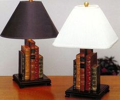 Stunning 30 How to Reuse Old Book Ideas Repurposed Furniture Book ideas ReUse Stunning Diy Old Books, Old Book Crafts, Book Furniture, Repurposed Furniture, Diy Luminaire, Recycled Decor, Book Lamp, Rustic Lamps, Book Folding