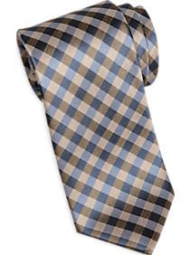 Joseph Abboud Blue & Brown Check Narrow Tie