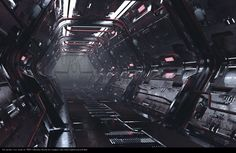 Spaceship corridor, Ekaterina Gudkina on ArtStation at https://www.artstation.com/artwork/spaceship-corridor-29dfaa95-4244-4101-afae-fbc2879d9c2c