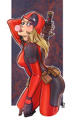 #Deadpool #Fan #Art. (Lady Deadpool) By:METSUSAN. (THE * 5 * STÅR * ÅWARD * OF: * AW YEAH, IT'S MAJOR ÅWESOMENESS!!!™)[THANK U 4 PINNING!!!<·><]<©>ÅÅÅ+(OB4E)    https://s-media-cache-ak0.pinimg.com/564x/37/ff/50/37ff50fa64f6cce5aeefb68775a40070.jpg