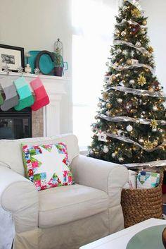 V and Co.: V and Co: lucky stars Christmas pillow @ModaFabrics