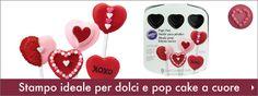 Romantico stampo ideale per creare dolci e pop-cake a forma di cuore