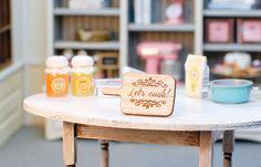 Miniature kitchen Cutting Board handmade por MiniFanaberia en Etsy