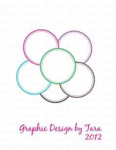 Round Frilly Frames Clip Art For Personal by graphicdesignbytara, $1.50