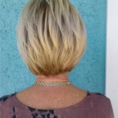 Graduated bob haircut with Goldwell color. Stylist: Stacy @streamingemerald #goldwell #goldwellcolor #graduatedbob #hairstyles