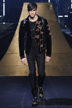 Rhys Pickering for Philipp Plein Fall 2016 Menswear Fashion Show