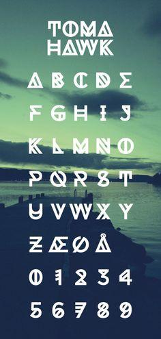 excelente typografia para una sensacion limpia y nitida como el fondo  Tomahawk - Free Font: