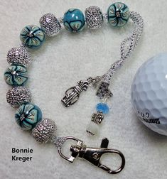 Golf Stroke Counter with Handmade Beads by BonnieKreger on Etsy