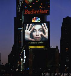 "Pipilotti Rist, ""Open My Glade""  at Times Square NYPhoto: Dennis Cowley"