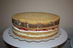 Italian Wedding/Cream/Rum Cake (post-assembly, pre-frosting)