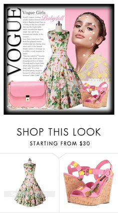 """Seven grils 4"" by century-fashion ❤ liked on Polyvore featuring Dolce&Gabbana, Valentino and vintage"
