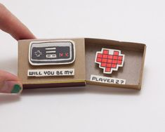 "Funny Gamer Love card/ Geeky Proposal Card / Witty Love's Card/ Funny Love Card/""Will you be my Player Funny Gamer Liebeskarte / Geeky Vorschlag Karte / lustige Love Quotes For Boyfriend Funny, Love Memes For Him, Love Memes Funny, Funny Love Cards, Diy Funny, Funny Valentine, Valentine Love Cards, Valentines Day Gifts For Him, Matchbox Crafts"