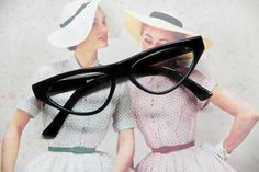 Vintage cat-eye eyeglasses secretary style/ eyeglasses mad men style