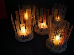 #EarthHour ~ Switch off the lights and enjoy the candlelight! Candleholder to make with kids for tonight from Fem Manuals: La Candelera II
