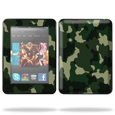 Protective Skin Decal Cover for Amazon Kindle Fire HD 7″ inch Tablet Sticker Skins Green Camo   Mightyskins are removable vinyl skins for protecting and customizing your portable devices. They feature ultra high resolution designs, the perfect way to add some style