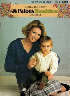 PDF Vintage Womens Mother & Baby SAILOR Jackets Knitting Vintage Knitting, Baby Knitting, Knitting Patterns, Crochet Patterns, Baby Knits, Period Costumes, Children Clothing, Baby Cardigan, Mother And Baby