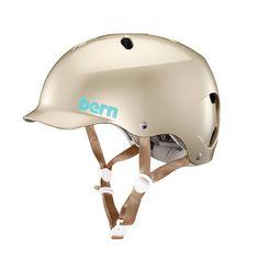Bern Unlimited Lenox EPS Helmet (Satin Champagne, Small) - It's great quality and seems very durable. Cool Bike Helmets, Bicycle Helmet, Mountain Bicycle, Mountain Biking, Rollers, Womens Bike Helmet, Ski, Urban Cycling, Urban Bike