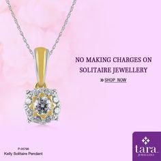 A stunning solitaire pendant for everyday shine  http://bit.ly/2rqSGza #Solitairejewellery #TaraJewellers #Diamondjewellery #Certfieddiamonds #BIShallmarkedjewellery