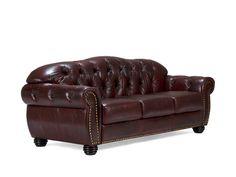 massivum Sofa aus Echtleder »Cardiff «
