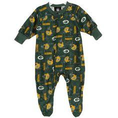 Green Bay Packers Infant Blanket Sleeper - Green