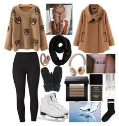 """""""Ice skating"""" by musicmelody1 on Polyvore featuring Venus, Chicnova Fashion, The North Face, Cents of Style, B&O Play, Bobbi Brown Cosmetics, Butter London and plus size clothing"""