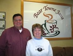 """My next stop was Bear Towne Java. I met with good friend and owner of Crystal Coast Discovery Maps, Rich Sheridan. We congratulated Teresa Mitchell, Co-owner, of Bear Towne Java as Teresa and Jean Kenefick became proprietors of their own business as they left the Port City Java franchise. Rich and I also ran into Michaelé Rose Watson. Michaelé is an incredible local Artist and will be co-starring in our upcoming movie """"The Hunt"""" – Women vs. Wild."""