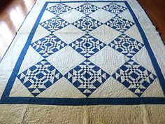 ANTIQUE BLUE AND WHITE PATCHWORK QUILT, eBay, angelinrags