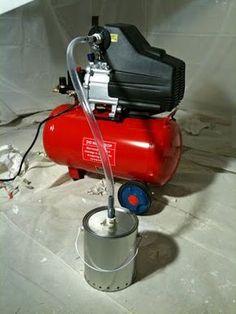Cut Compressor noise with DIY muffler - VAF Forums Air Compressor Repair, Quiet Air Compressor, Homemade Weapons, Homemade Tools, Generator Shed, Garage Organisation, Diy Bar, Air Tools, Garage Shop