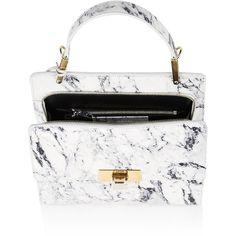 Balenciaga Le Dix Cartable (46.475 CZK) ❤ liked on Polyvore featuring bags, handbags, balenciaga, flat purse, handle handbags, logo purse and handle purse