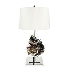 Matthew-studios-inc-draper-smokey-quartz-table-lamp-lighting-table-metal-stone